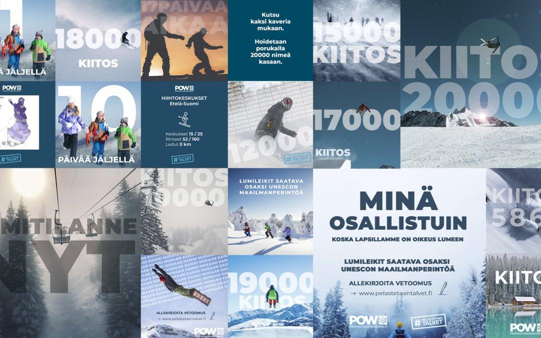 Lumileikkejä lähdetään viemään Unescon listalle yli 20 000 henkilön tuella
